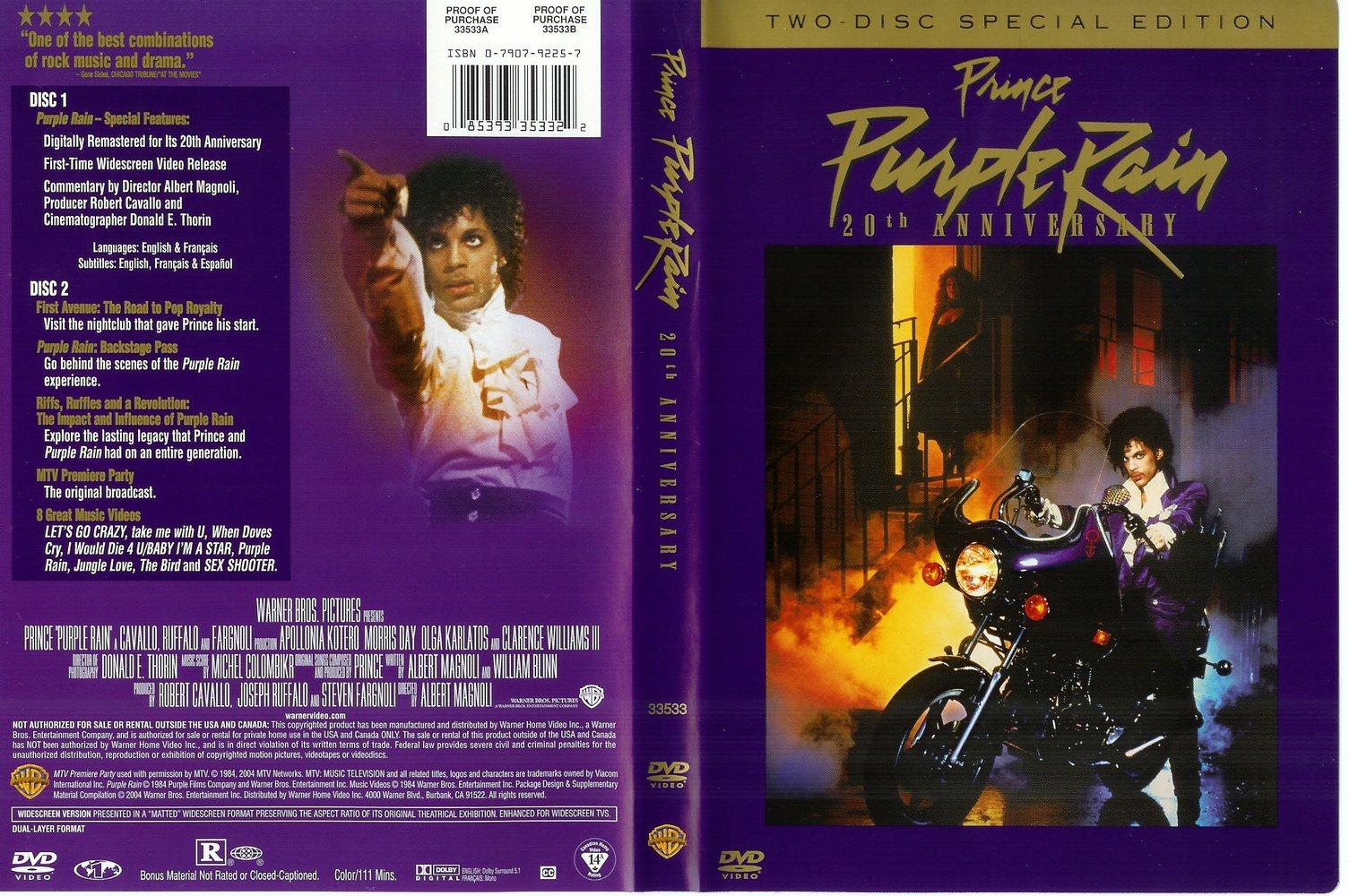 Prince - Purple Rain DVD 20th Anniversary 2disc